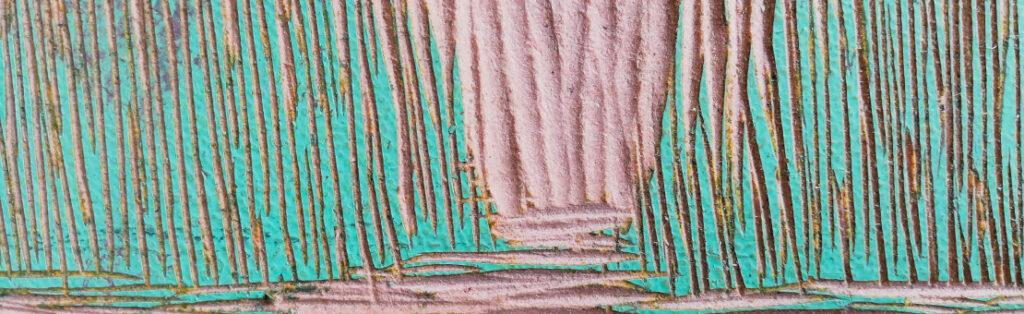 Grabado en relieve, matriz de xilografia, detalle
